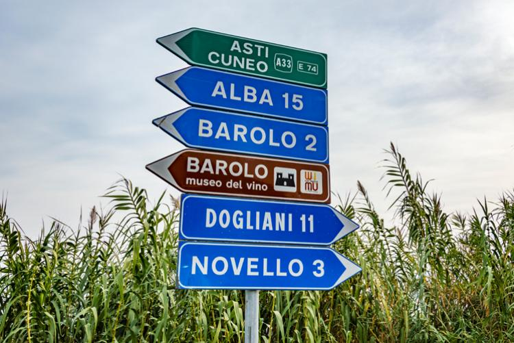 Verkehrsschild Piemont